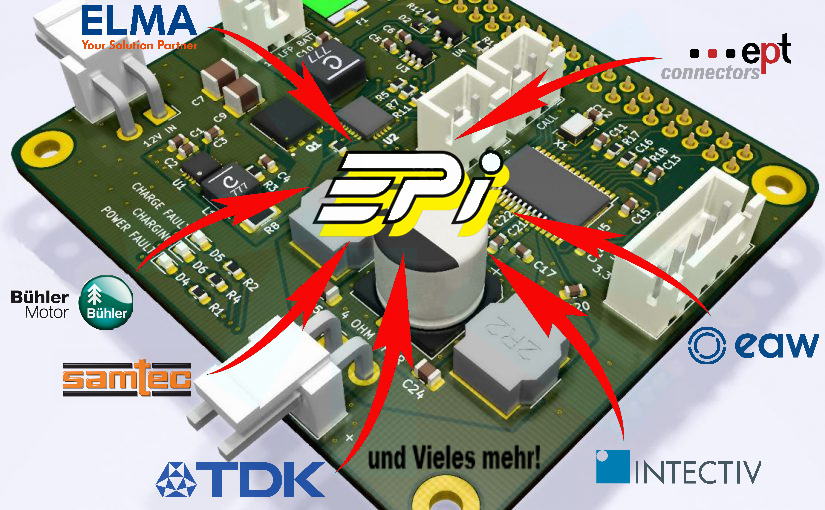 EPi, TDK, Samtec, Elma, Intectiv, ept connectors, Bühler motor, eaw, EPi-Lieferprogramm, EPi-Partner